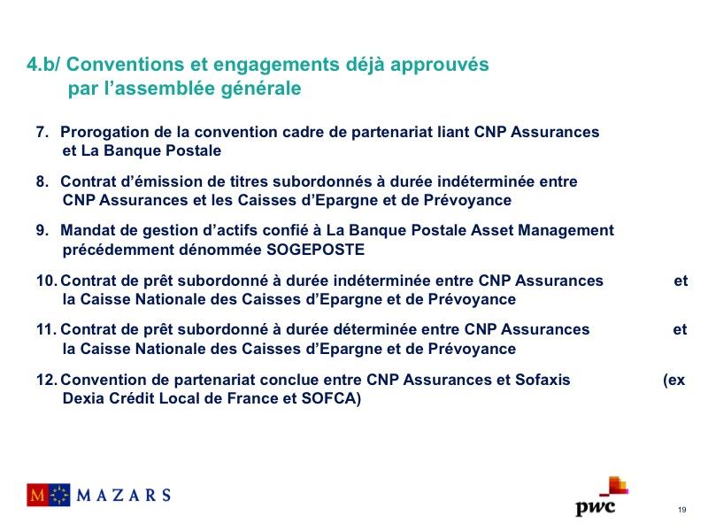 Conventions et engagements déjà approuvés par l'assemblée générale (2)