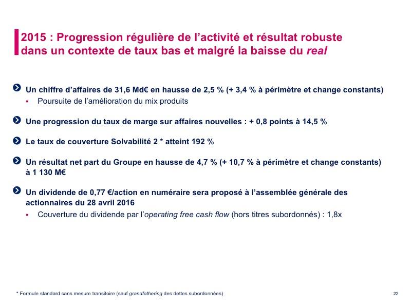 Priorité à la rentabilité des opérations (2/2)