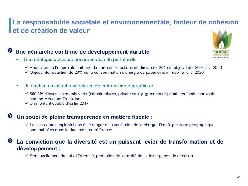 La responsabilité sociétale et environnementale, facteur de cohésion et de création de valeur