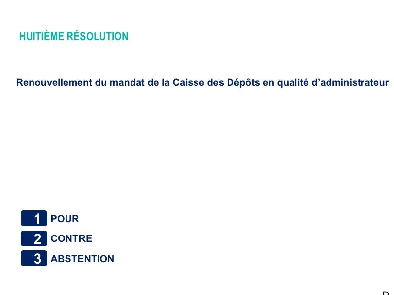 Cinquième résolution<br>Résultat