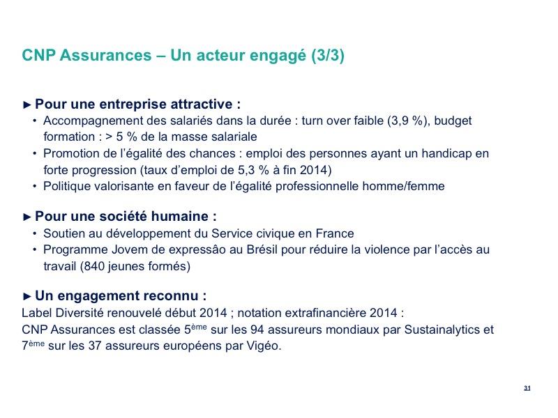 CNP Assurances – Un acteur engagé (3/3)