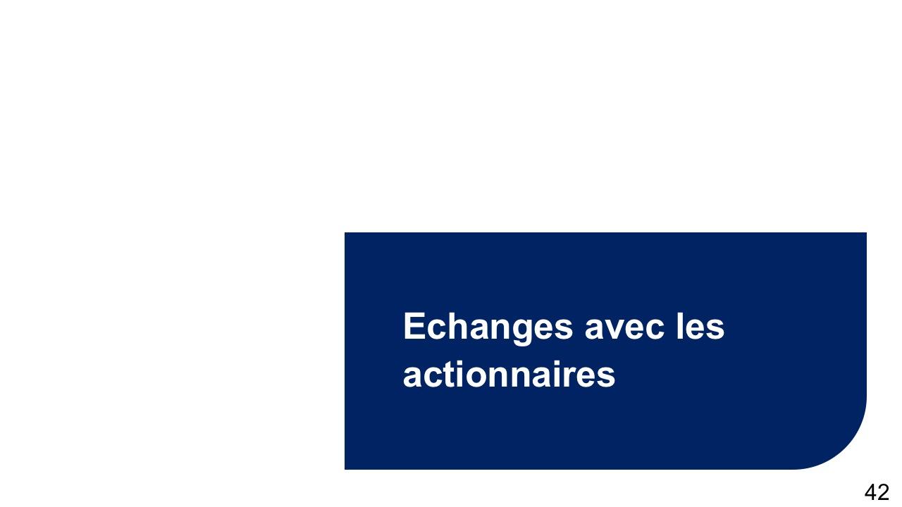 Echanges avec les actionnaires (2)