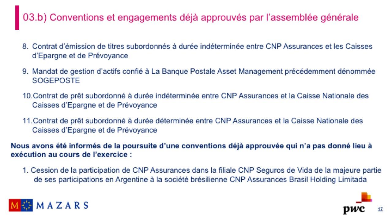 Rapport sur les conventions et les engagements réglementés (5)