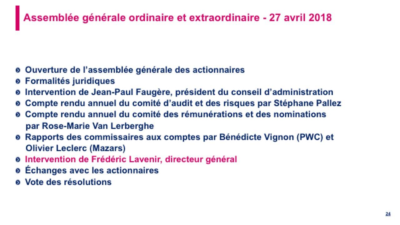 <b>Intervention de Frédéric Lavenir, directeur général</b>